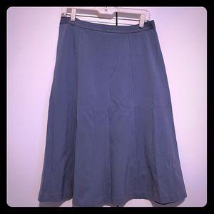 Uniqlo Light blue grey A-line stretch midi skirt